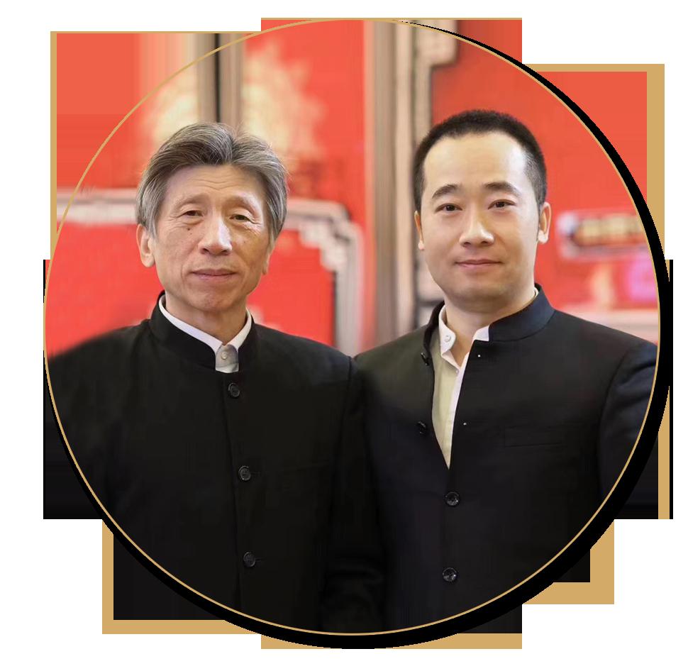 浦君艺术创始人胡桂忠与中美协主席范迪安先生合影