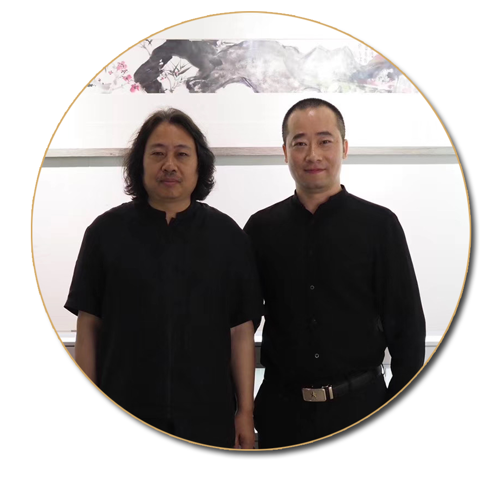 浦君艺术创始人胡桂忠与贾广健先生合影