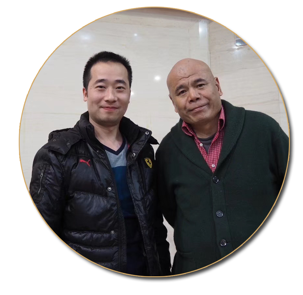 浦君艺术创始人胡桂忠与京派杰出代表画家马海方先生合影