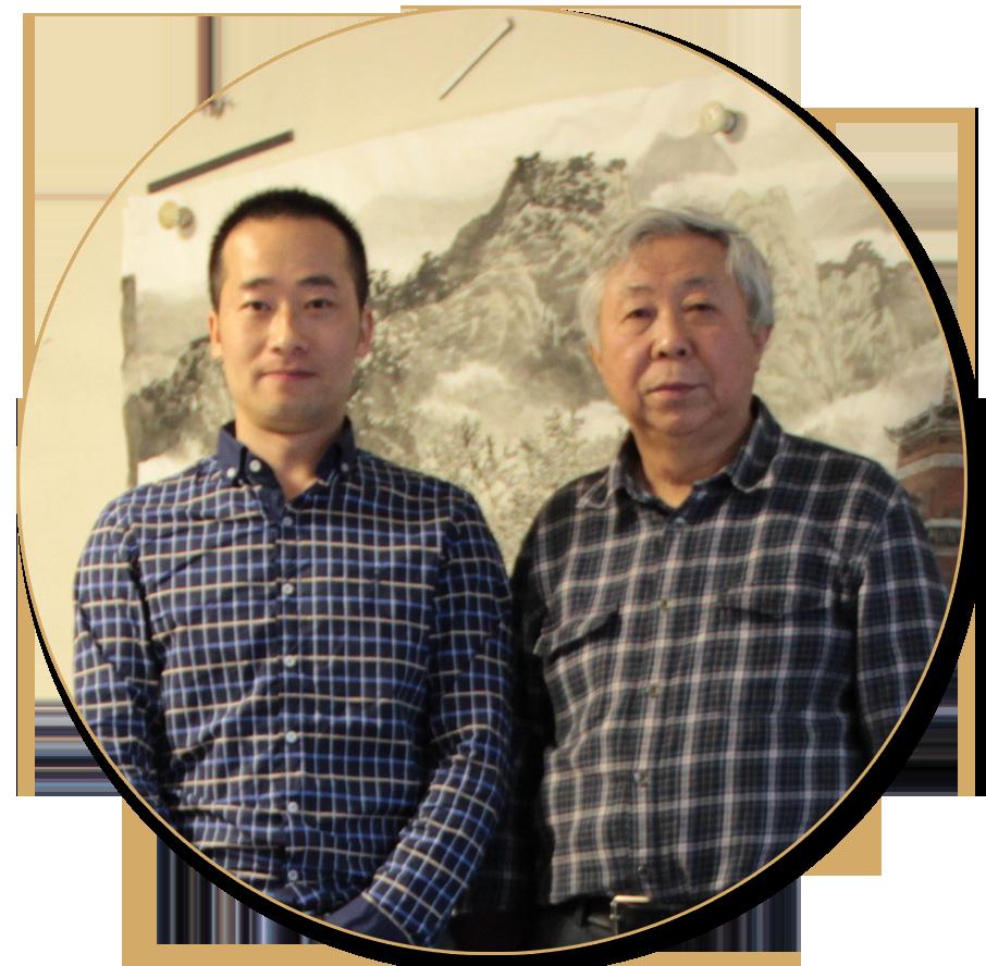 浦君艺术创始人胡桂忠与张复兴先生合影