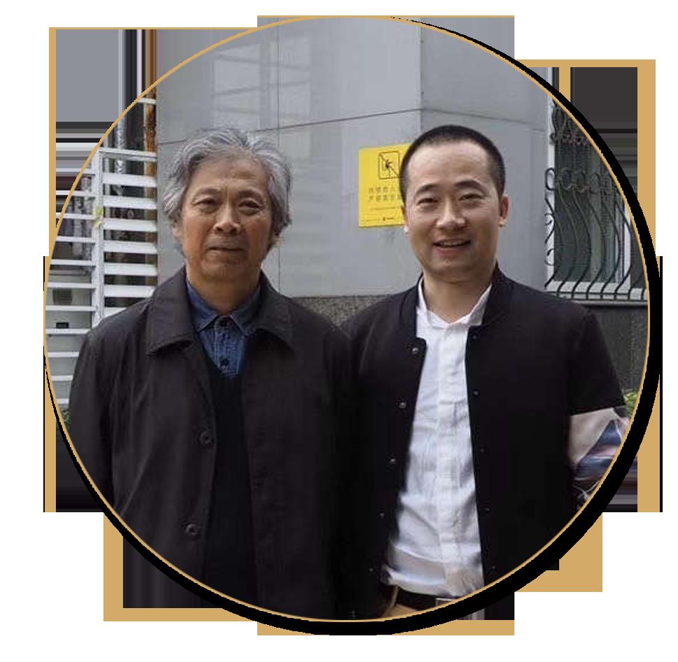 浦君艺术创始人胡桂忠与唐勇力先生合影