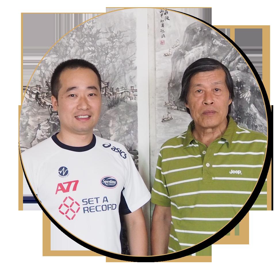 浦君艺术胡桂忠与中国美术家协会理事程振国先生合影