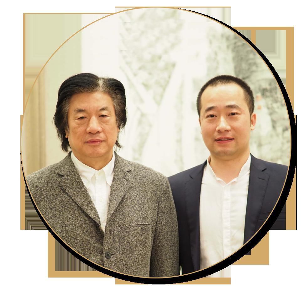 浦君艺术胡桂忠与中国艺术研究院中国画院艺术委员会主任赵建成先生合影