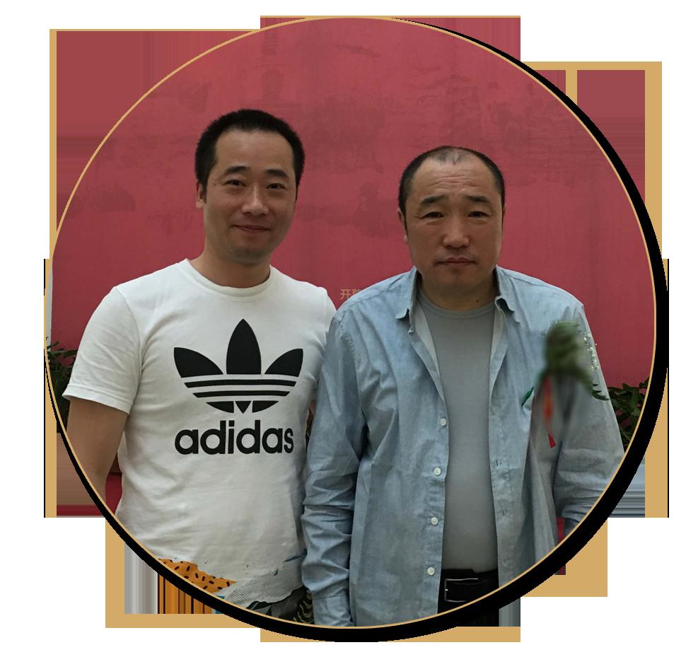 浦君艺术胡桂忠与中国国家画院常务副院长卢禹舜先生合影