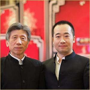 浦君艺术创始人胡桂忠与范迪安先生合影