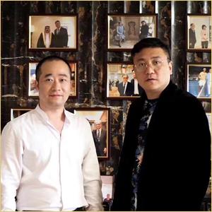 浦君创始人胡桂忠与崔景哲合影