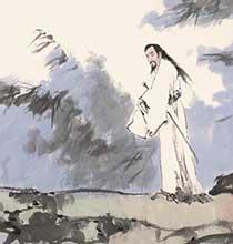 范曾人物画作品《屈子》